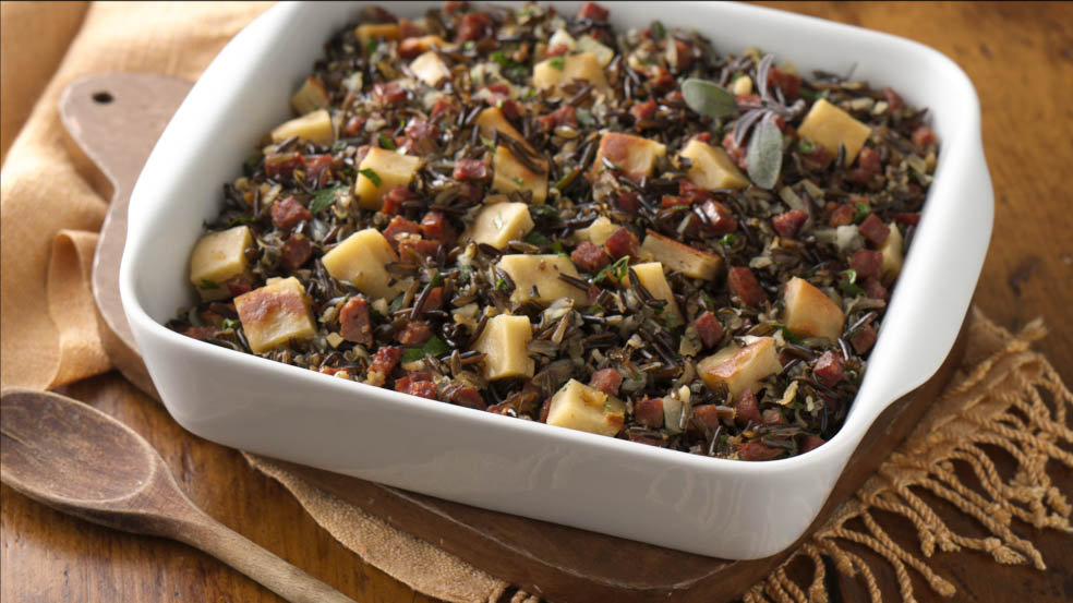 Wild Rice, Chorizo and Gluten Free Bread Stuffing